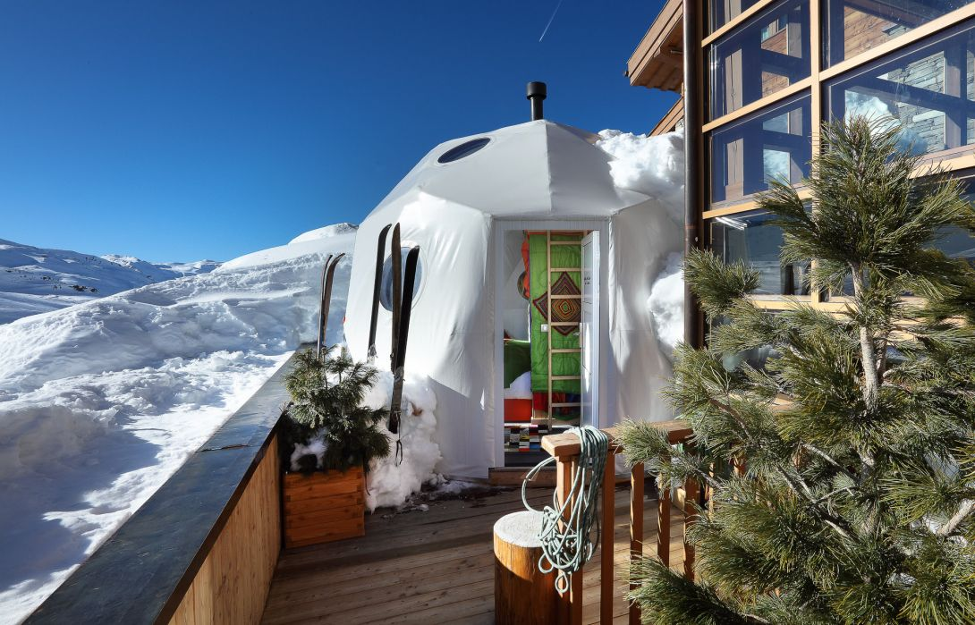 Igloo ambiance montagnarde exterieur